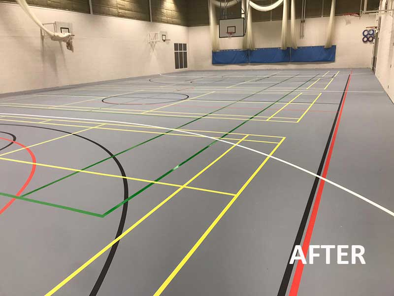 sports hall surfaces