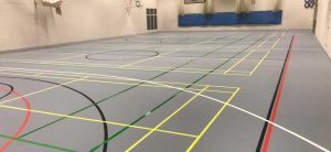 sports hall surface