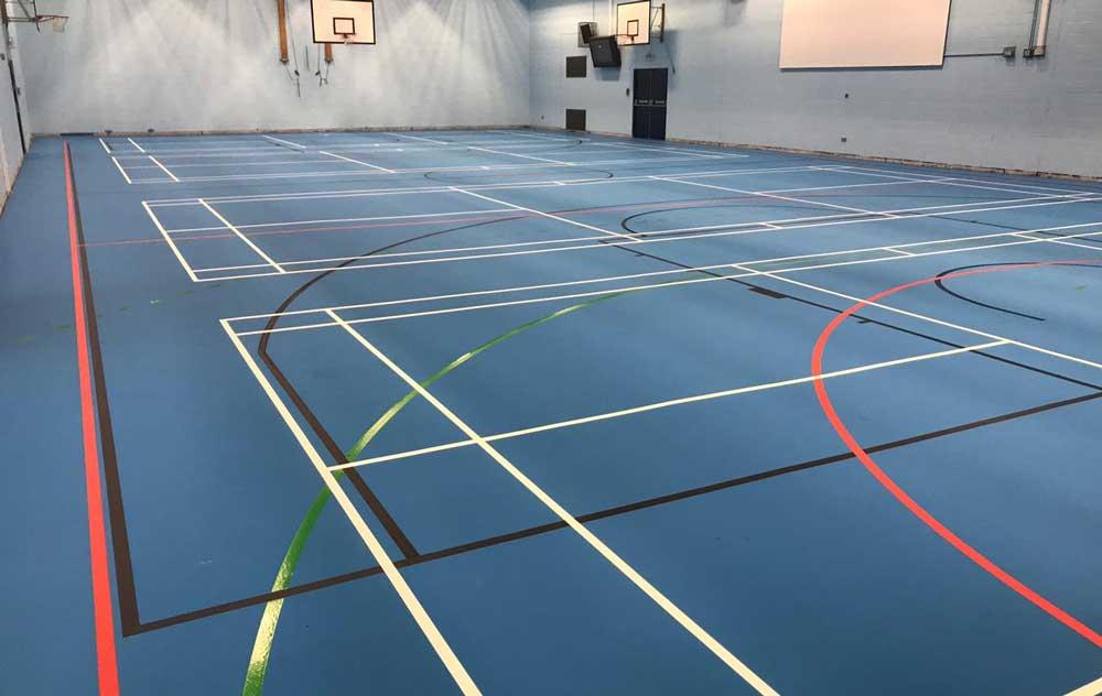 case study broughton high school sports hall flooring