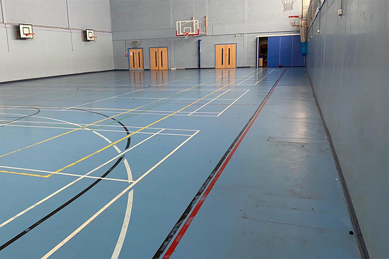 sports hall flooring st francis school case study