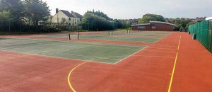 different types of tennis flooring