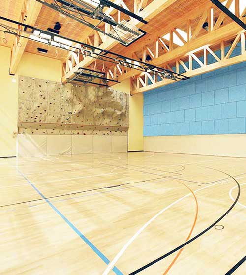 timber sports surface