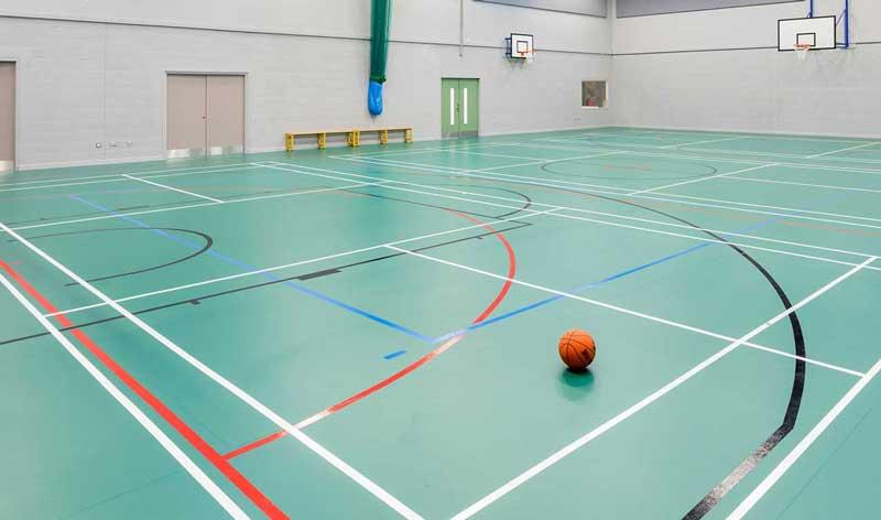indoor sports hall flooring